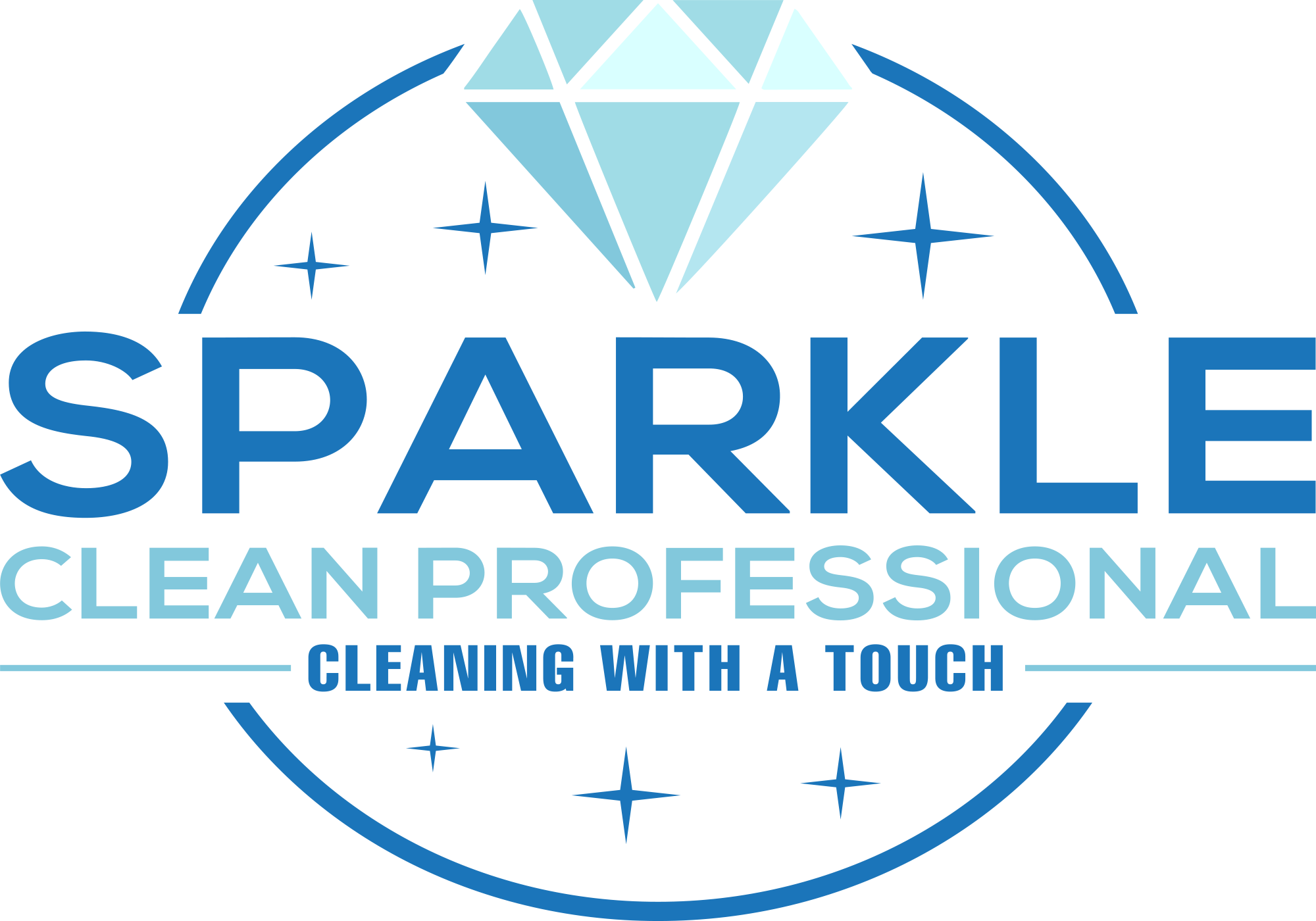 The Sparkle Clean Professional Logo.