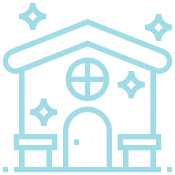 An icon depicting a clean house.