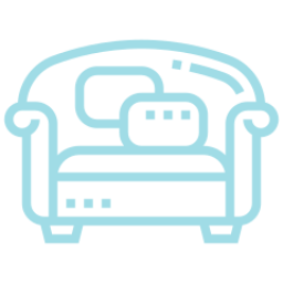 An icon depicting a sofa.